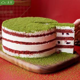 【为思礼】「圣诞红丝绒蛋糕」关茶抹茶慕斯盒子蛋糕甜品车厘子玫瑰红丝绒芝士蛋糕【顺丰冷链发货】
