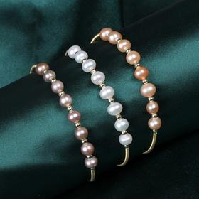 NM-SL-202011251新款时尚优雅气质珍珠开口手镯TZF