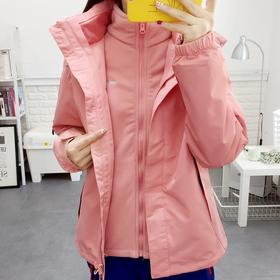 PDD-XSLHW201127新款韩版时尚户外加绒加厚三合一冲锋衣裤子套装TZF