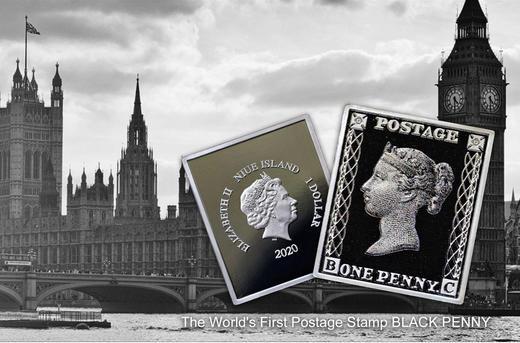 邮票诞生180周年黑便士纪念币 商品图0