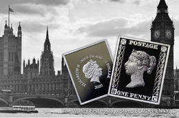 邮票诞生180周年黑便士纪念币