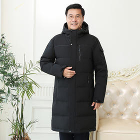 SP70961新款男士时尚休闲连帽中长款保暖羽绒服外套TZF