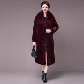 AHM-xyjp3079新款时尚优雅气质翻领长袖中长款水貂绒大衣外套TZF