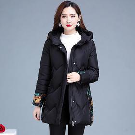 QYM-KSY-YC2088-Y新款时尚优雅气质连帽加绒保暖棉衣外套TZF