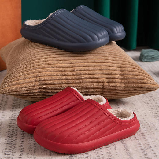 PDD-SD201129外穿防水EVA毛绒滑情侣棉拖鞋TZF 商品图5