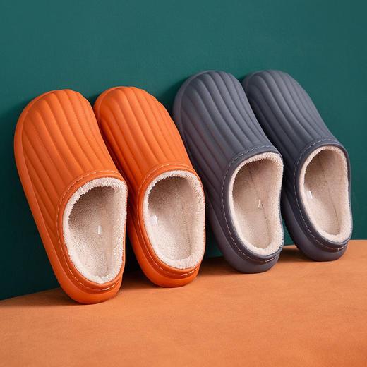 PDD-SD201129外穿防水EVA毛绒滑情侣棉拖鞋TZF 商品图6