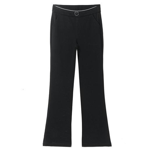 DM9187新款时尚气质休闲弹力高腰垂感微喇裤TZF 商品图5
