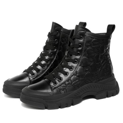 MLKL9689新款潮流时尚气质圆头系带高帮休闲鞋TZF 商品图3