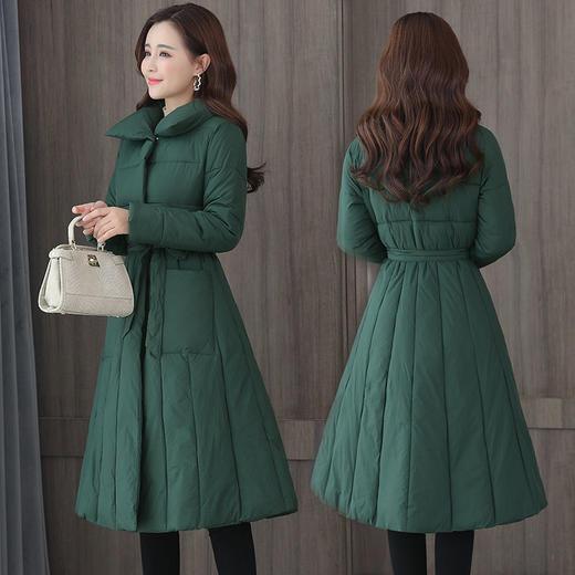 PDD-QXY201129新款时尚优雅气质中长款加大加厚棉衣外套TZF 商品图2