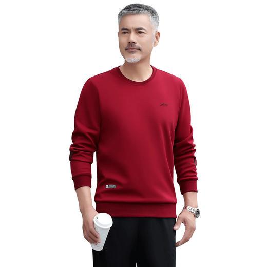 SP11893新款男士时尚气质休闲宽松圆领长袖加绒加厚卫衣裤子两件套TZF 商品图4