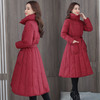 PDD-QXY201129新款时尚优雅气质中长款加大加厚棉衣外套TZF 商品缩略图0