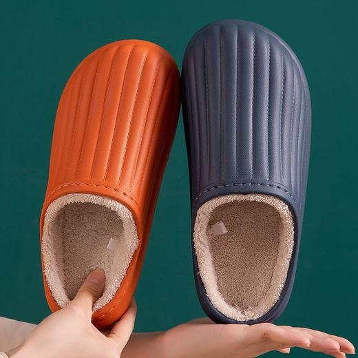 PDD-SD201129外穿防水EVA毛绒滑情侣棉拖鞋TZF 商品图4