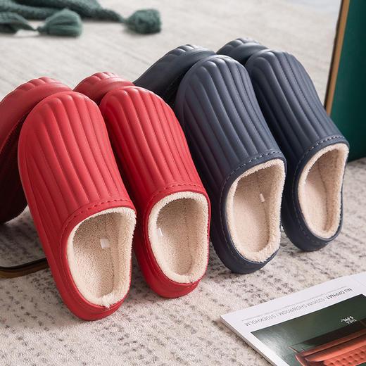 PDD-SD201129外穿防水EVA毛绒滑情侣棉拖鞋TZF 商品图0