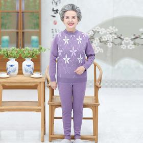 DDZ-AA6012新款优雅气质印花加绒棉保暖内衣套装TZF