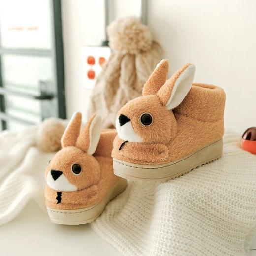 PDD-ASJJX201130冬季儿童居家可爱卡通兔包跟棉鞋TZF 商品图4