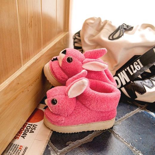 PDD-ASJJX201130冬季儿童居家可爱卡通兔包跟棉鞋TZF 商品图5