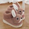 PDD-ASJJX201130冬季儿童居家可爱卡通兔包跟棉鞋TZF 商品缩略图0