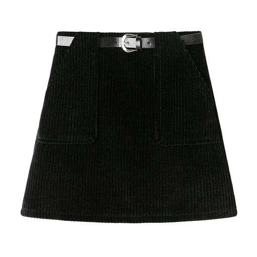 YHSS891新款时尚气质百搭高腰灯芯绒包臀短裙TZF 商品图6