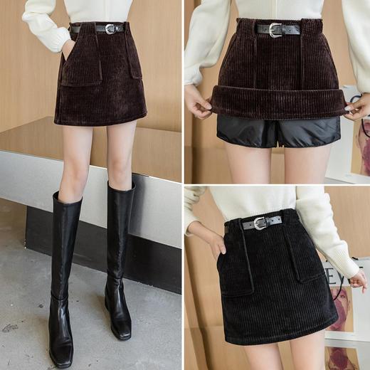 YHSS891新款时尚气质百搭高腰灯芯绒包臀短裙TZF 商品图1