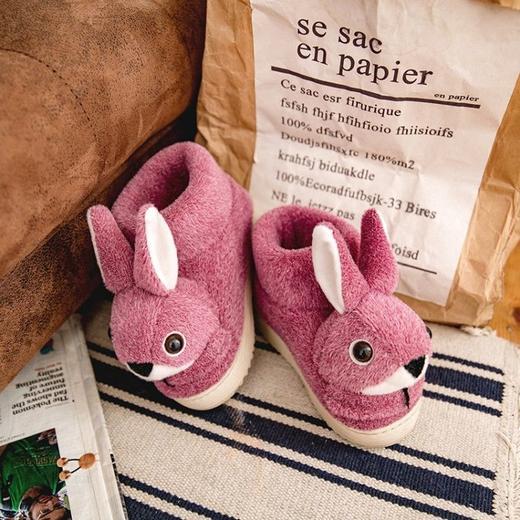 PDD-ASJJX201130冬季儿童居家可爱卡通兔包跟棉鞋TZF 商品图3