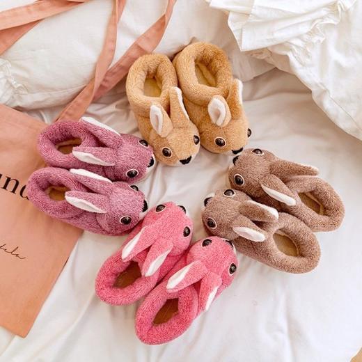 PDD-ASJJX201130冬季儿童居家可爱卡通兔包跟棉鞋TZF 商品图6