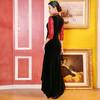DLQ-A2727新款中国风名媛气质修身立领七分袖丝绒拼接刺绣连衣裙TZF 商品缩略图3