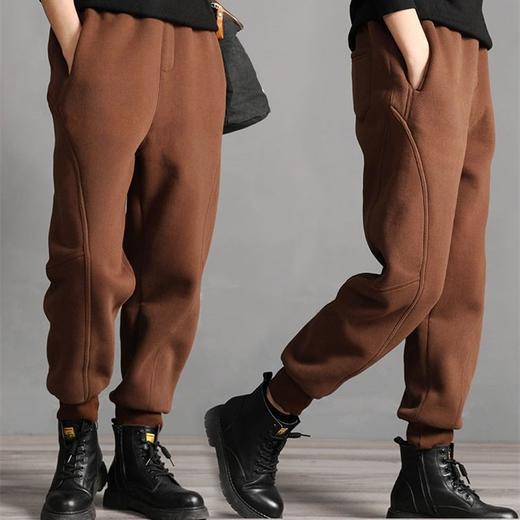 PDD-YYY201130新款时尚气质休闲宽松拼接加绒加厚束脚哈伦运动裤TZF 商品图0