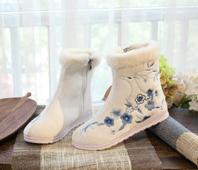 TML-X636-12新款民族风优雅气质毛口绣花靴TZF