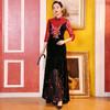 DLQ-A2727新款中国风名媛气质修身立领七分袖丝绒拼接刺绣连衣裙TZF 商品缩略图2