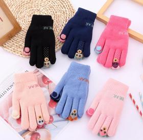 *儿童手套五指冬季小孩加绒加厚中小学生女童男童五指户外保暖防寒 | 基础商品