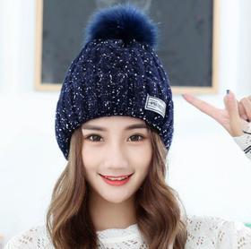 【针织帽】*户外防寒针织帽韩版时尚毛球帽可爱保暖帽子 | 基础商品