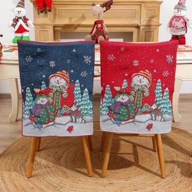 *椅子套卡通老人雪人凳子套圣诞大帽子家居装饰品 | 基础商品
