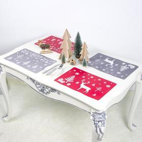 【圣诞】*圣诞节装饰 创意圣诞PVC印花餐垫杯垫 | 基础商品