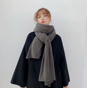 *韩版纯色针织毛线围巾女秋冬季加厚保暖学生软妹围脖男百搭披肩潮 | 基础商品