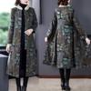 AHM-qyy9847新款时尚优雅气质立领长袖长款印花夹棉外套TZF 商品缩略图0