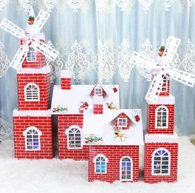 【装饰】*圣诞节装饰品圣诞雪房子雪屋城堡商场酒店场景布置道具 | 基础商品
