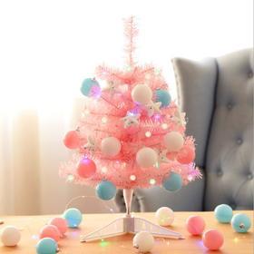 【装饰】*粉色迷你小圣诞树60cm套餐橱窗酒店商场柜台桌面摆件圣诞节装饰品 | 基础商品