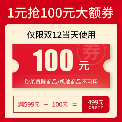 1元抢购100元大额优惠券(仅限双12当天使用) 商品图0