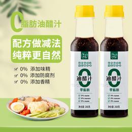 农道好物0脂肪油醋汁 0添加防腐剂 0添加香精味精 268/瓶