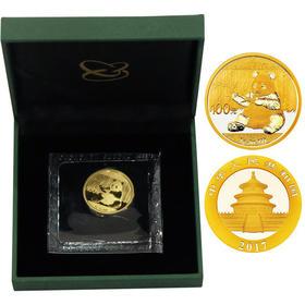 2017年熊猫纪念金币(配金币绿盒)