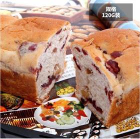 桃李蔓越莓核桃面包120g/袋