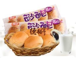 桃李迷你豆沙面包170g/袋