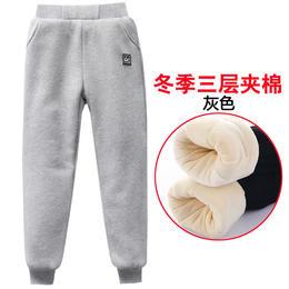 PDD-MYTX201230新款男童加绒加厚三层夹棉保暖裤TZF