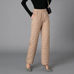 PDD-DLY210102新款时尚气质休闲加厚保暖直筒棉裤TZF