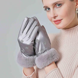 PDD-ROQE210103加绒加厚防水防寒触屏女士手套TZF
