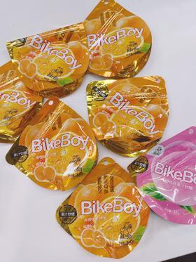 【清仓特惠】江浙沪包邮 Bike Boy 果汁软糖 11.5元/7包 52G/包 香橙味(6)+蜜桃味(1)