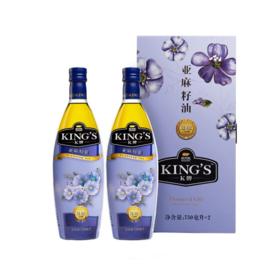 金龙鱼KING'S亚麻籽油750ML*2礼盒装