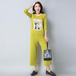 【特价清仓,只为回馈老顾客】E8815新款羊绒针织上衣裤子TZF