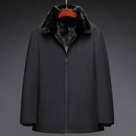 PDD-Man210111新款男士翻领长袖仿貂毛大衣外套TZF