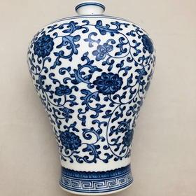 青花仿古瓷在《梅瓶》(小)